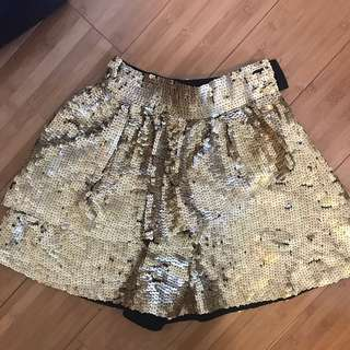 State Of Georgia Gold Sequin Shorts