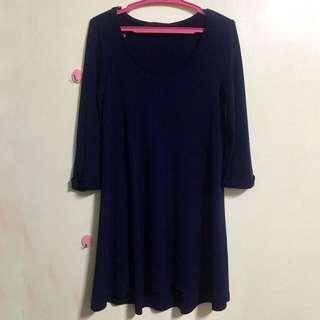 Giordano dark blue dress