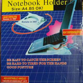Notebook Holder With Adjustable Angle