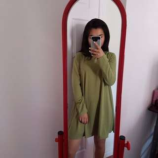Green Dress With BACK Cutout BNWT