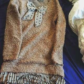 Vintage Style Sweater Dress
