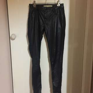 French Connection Faux Leather Jeans