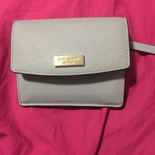 Authentic Light Grey Kate Spade Card Hold Wallet