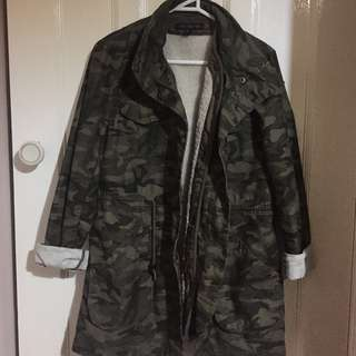 French Connection Camo Duffle Coat