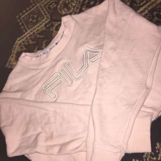 Pink Fila Crop Jumper