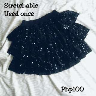 Black Skirt (W/ Sequins)