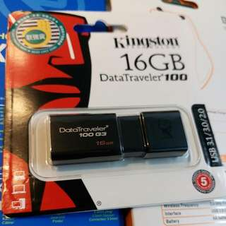 Kingston 16gb 手指$50