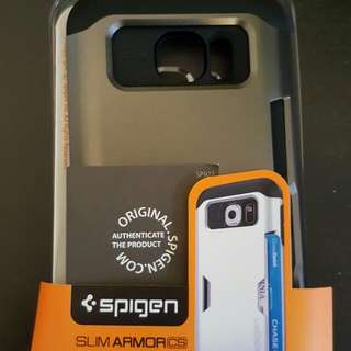 Genuine Spigen Slim Armour Card Holder Cover