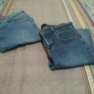 celana jeans pendek take all 15rb
