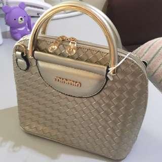 Weave Design Sling/hand Bag