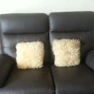Genuine Sheep Skin Cushion Covers Fr New Zealand