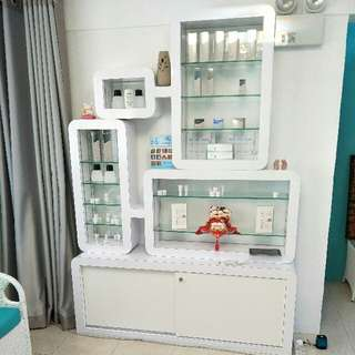 Custom Made Glass Display Cabinet  (Items Not Included)