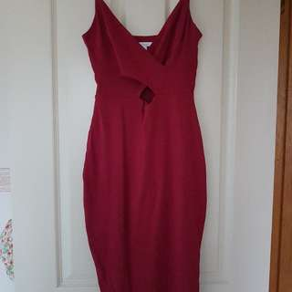 Red Kookai Midi Dress Size 1