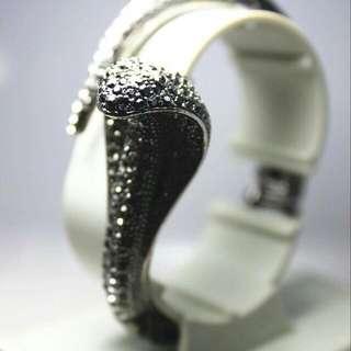 眼鏡蛇黑鑽手環