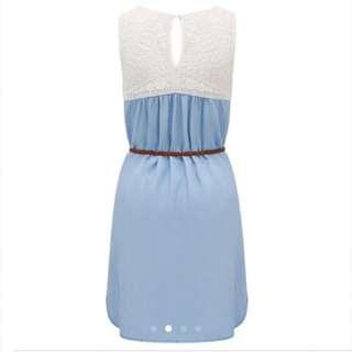 Forever New BNWT Lace Crochet Denim Dress
