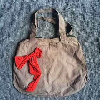 👜SALE👜 Grey Ribbon Bag