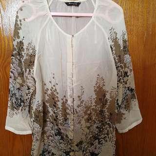 Flowery Shirt From Massimo Dutti