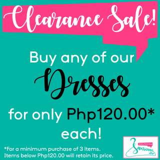 CLEARANCE SALE - DRESSES!
