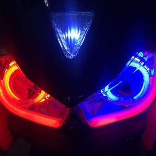 Force 魚眼燈具整套含 線組 Hid 光圈 整套7000