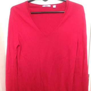 Uniqlo Red Knitted Longsleeves