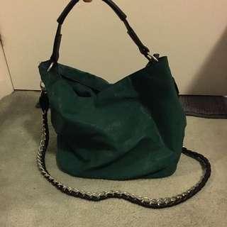 Sportsgirl Emerald Green Statement Bag