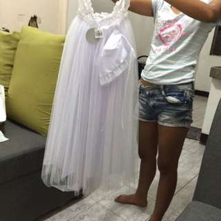 baby girl christening long gown