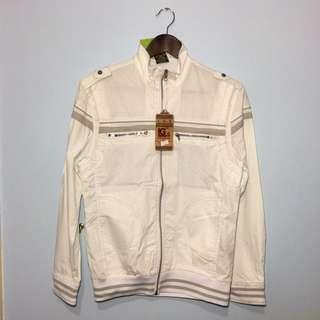 Mens White Jacket Size XL