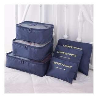 旅行/衣物收納袋6件裝[深藍] Bags (Set For 6 Bags) [dark blue]
