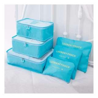 旅行/衣物收納袋6件裝[淺藍] Bags (Set For 6 Bags) [light blue]