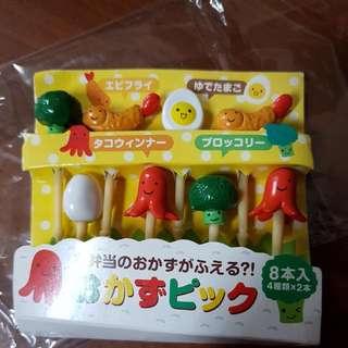 日式便當 可愛水果叉