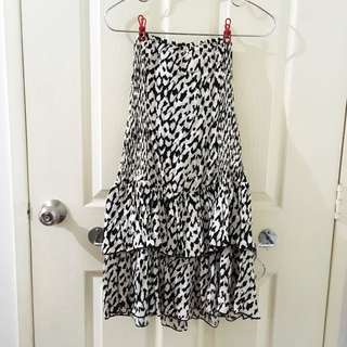 Leopard Print Tube Dress