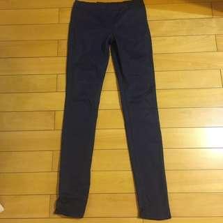 深藍 長褲 筆筒褲 鬆緊褲