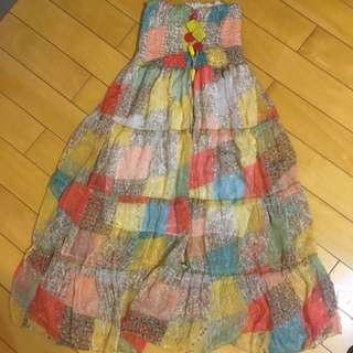 平口 度假風 洋裝
