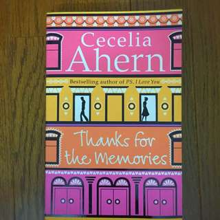 """Thanks for the Memories"" by Cecilia Ahern (Big Print)"