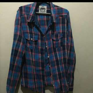 Checkered 3/4 Blouse