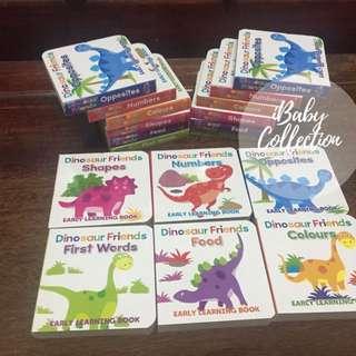 抵玩送禮之選 - UK Dinosaur Friends early learning booking 一書六冊