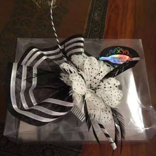 Black And White New Never Worn Fascinator