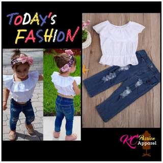 Mother & Kids Hospitable Fashion Infant Toddler Kids Baby Girl Denim Ruffle Sleeveless Tops Button High Waist Short Pants Outfit Clothes Set