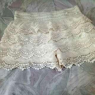 (含運)白色蕾絲襯褲