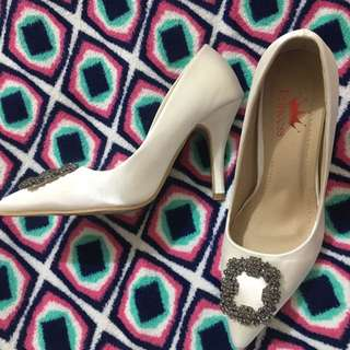 Classy White Heels
