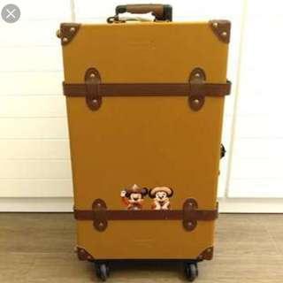 全新 限量版迪士尼復古28''皮喼 行李箱 連防塵套