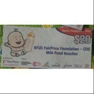 WTB : Ntuc Milk Voucher