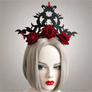 Gothic queens rose crown headband fascinator  $10