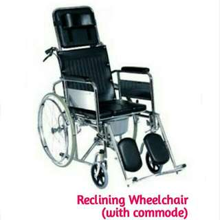 Reclining Wheelchair (with commode)