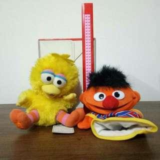 Sesame Street Big Bird & Ernie Boneka
