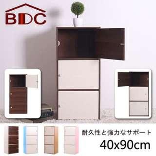 [免運+鑑賞期] 環保材質 日系強化型90cm三層門櫃