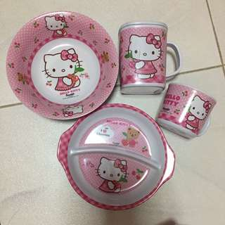 Original Cherry hello kitty bowls set