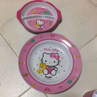 Original hello kitty plate set