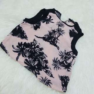 ZARA - PINK CROP TOP