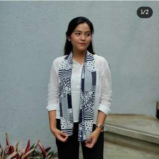 Abstract Navy pattern Scarf